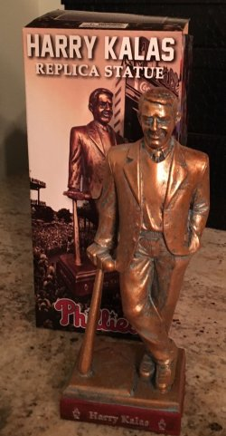 2016  Philadelphia Phillies Harry Kalas Replica Statue SGA