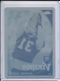 2010 Topps Chrome Cyan Printing Plate - Chris Cook