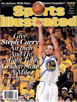 Stephen Curry Signed IP Sports Illustrated Magazine