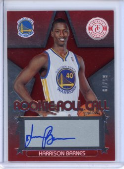 2012-13 Panini Totally Certified Harrison Barnes Rookie Roll Call Red Auto