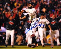 Sergio Romo Signed IP 8x10 Photo