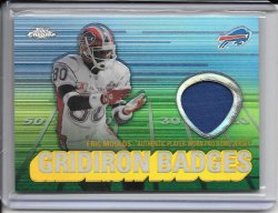 2003 Topps Chrome Gridiron Badges Jersey - Eric Moulds