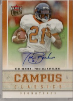 2006  Fleer Ultra Tiki Barber Campus Classics Signature