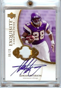 2007 Upper Deck Exquisite Adrian Peterson Auto Patch