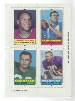 1969 Topps Four in One Roland/Morton/Baker/Brown