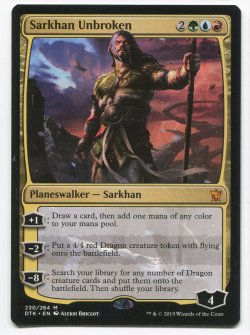 2015  Dragons of Tarkir Sarkhan Unbroken