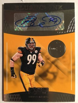 2016 Donruss Signature Series Elusive Ink #26 Brett Keisel