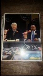 2016  Lunardis Bill Laskey / Vida Blue 8.5x11 IP Autograph
