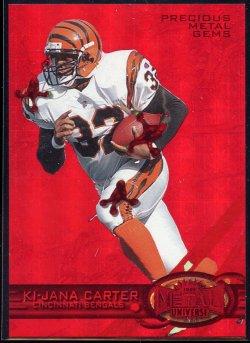 1997 Fleer Metal Universe Precious Metal Gems Red Ki-Jana Carter
