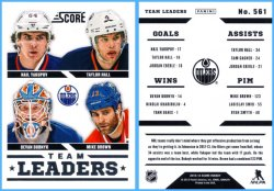 2013-14 Panini Score Nail Yakupov, Taylor Hall, Devan Dubnyk & Mike Brown Team Leaders
