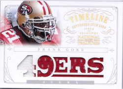 2013 Panini National Treasures Timeline Team Name Prime Patch Frank Gore