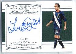 2017-18 Panini National Treasures Landon Donovan Inscription Autograph