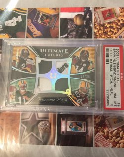 2008 Upper Deck Ultimate Collection Ultimate Futures Foursome Patch Rashard Mendenhall/Limas Sweed/Brian Brohm/Jordy Nelson