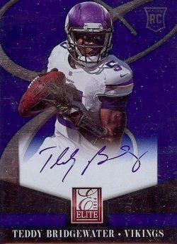 2014 Panini Elite Teddy Bridgewater On Card Auto