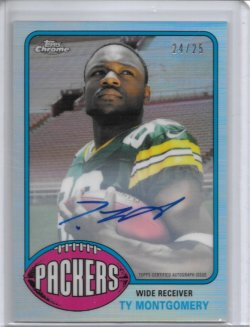 2015 Topps Chrome 1976 Refractor Autograph - Ty Montgomery