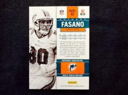2012 Panini Contenders Anthony Fasano #52 Back