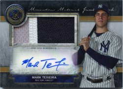 2020 Topps Museum Collection Mark Teixeira Momentous Materials Jumbo Patch Auto Gold