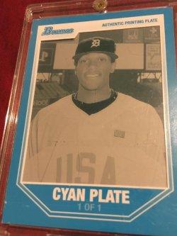 2006 Bowman 1/1 Cyan Printing Plate 1/1 CAMERON MAYBIN #BDPP107 Detroit Tiger RC OF