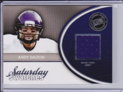 Andy Dalton 2011 Press Pass Legends Saturday Swatches Silver
