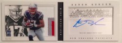 2013 Panini Playbook Aaron Dobson RPA Booklet