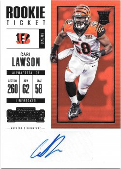 2017 Panini Contenders Rookie Ticket Autographs Carl Lawson