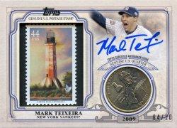 2016 Topps  Mark Teixeira WS Qtr LA Stamp Auto Relic