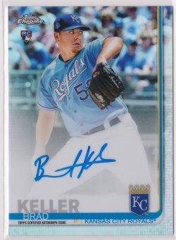 2019 Brad Keller Topps Chrome Refractor On-Card Auto RC 216/499  Royals B2601