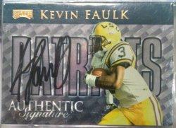 1999 Playoff  Kevin Faulk checklist autograph