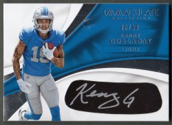 2017  Immaculate Collection Rookie Eye Black Autographs Kenny Golladay