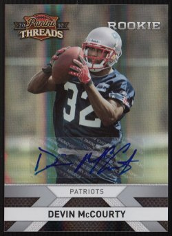 2010 Panini Threads Autographs Silver Devin McCourty