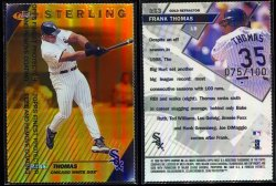 1999  Finest Gold Refractors  Frank Thomas