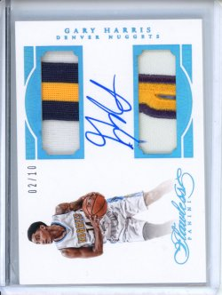 2015-16 Panini Flawless Garry Harris Dual Patch Autographs Sapphire