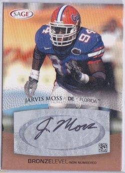 2007  SAGE - Autographs Bronze Jarvis Moss