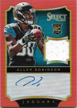 2014 Panini Select Prizm Orange Jersey Autographs Allen Robinson