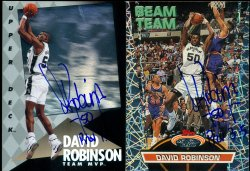 1992/93 Topps Stadium Club Beam Team David Robinson