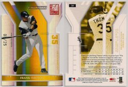 2004  Donruss Elite Extra Edition Aspirations Gold Frank Thomas
