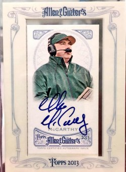 2013 Topps Allen & Ginter Mike McCarthy Autograph