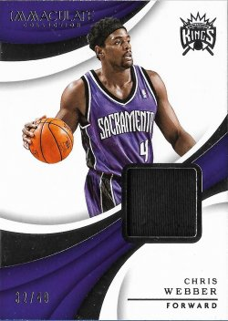 2017-18  Immaculate Collection Materials Chris Webber #ed 32/49