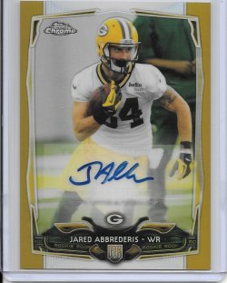 2014 Topps Chrome Gold Rookie Refractor - Jared Abbrederis