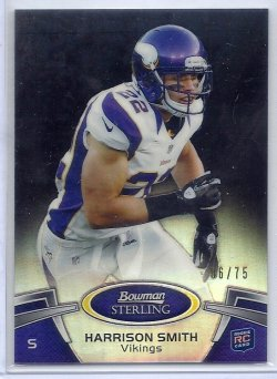 2012 Bowman Sterling Black Refractor Harrison Smith