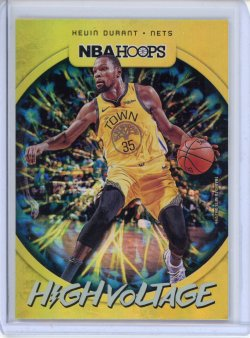2019-20 Panini Hoops Kevin Durant High Voltage