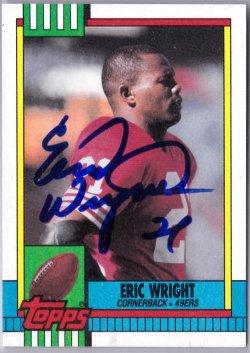 1990 Topps  Eric Wright IP Auto