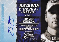 2010 Press Pass Main Event Marks Jimmie Johnson