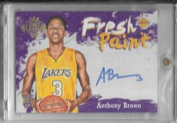 2015-16 Panini Court Kings Anthony Brown Fresh Paint Auto
