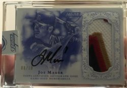 2015  Topps Dynasty Joe Mauer Auto Patch