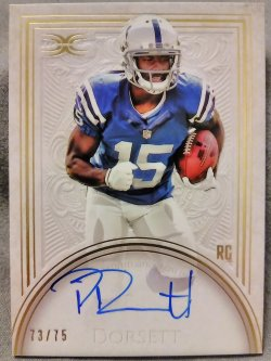 2015 Topps Definitive Phillip Dorsett Rookie Autographed Card