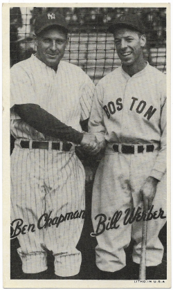 1936   1936 Goudey Wide Pens Chapman / Werber 11/17/18