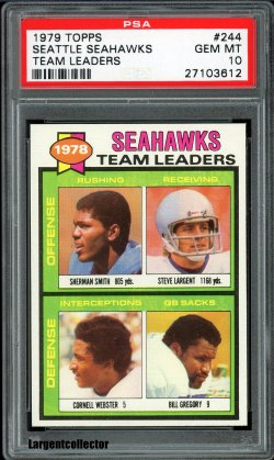 1979 Topps Seahawks Team Leaders Steve Largent
