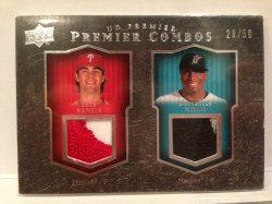 2008 Upper Deck Premier Cole Hamels/Dontrelle Willis Patch /50