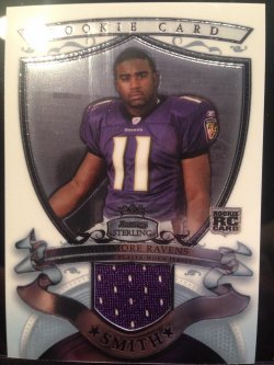 2007 Bowman Sterling Troy Smith rookie GU